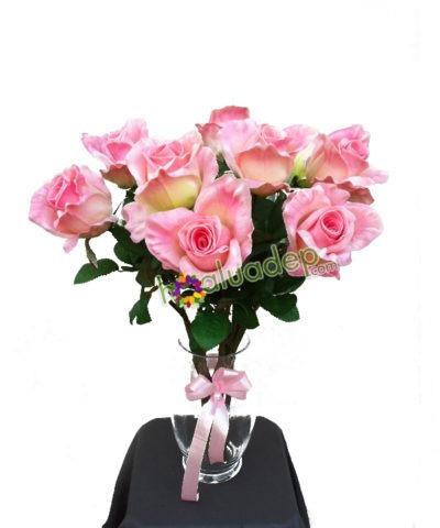 Hoa lụa, hoa giả Uyên shop, Hoa Hồng phớt
