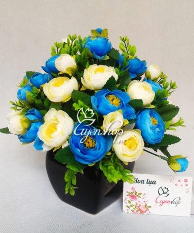 Hoa lụa, hoa giả Uyên shop, Hoa Trà Xanh