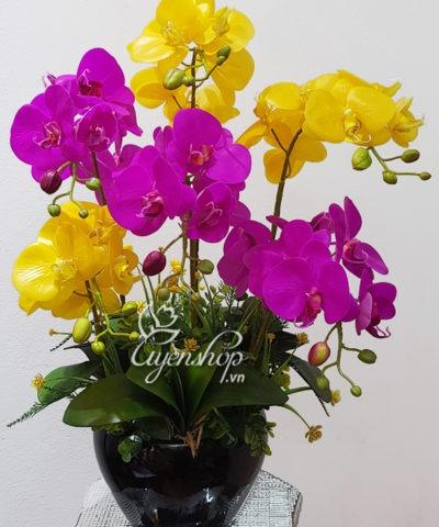 Hoa lụa, hoa giả Uyên shop, Hoa lụa-Bình Lan cao cấp
