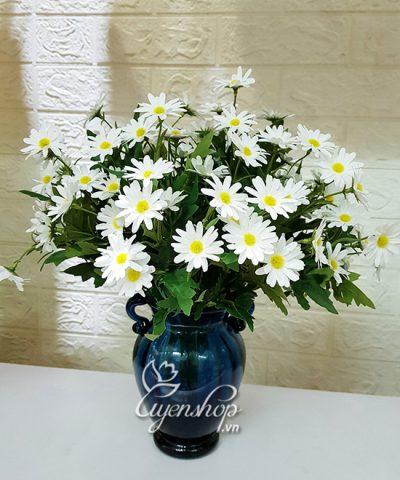 Hoa lụa, hoa giả Uyên shop, Bình Hoa Cúc Họa Mi