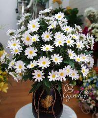 Hoa lụa, hoa giả Uyên shop, Bình Cúc Họa Mi xinh