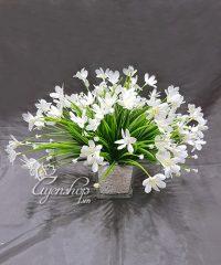 Hoa lụa, hoa giả Uyên shop, HOA THỦY TIÊN TRẮNG