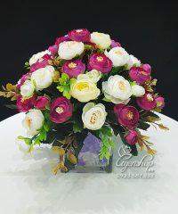 Hoa lụa, hoa giả Uyên shop, Hoa Trà Để Bàn xinh